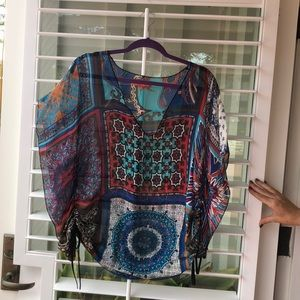 Hobo chic colorful blouse